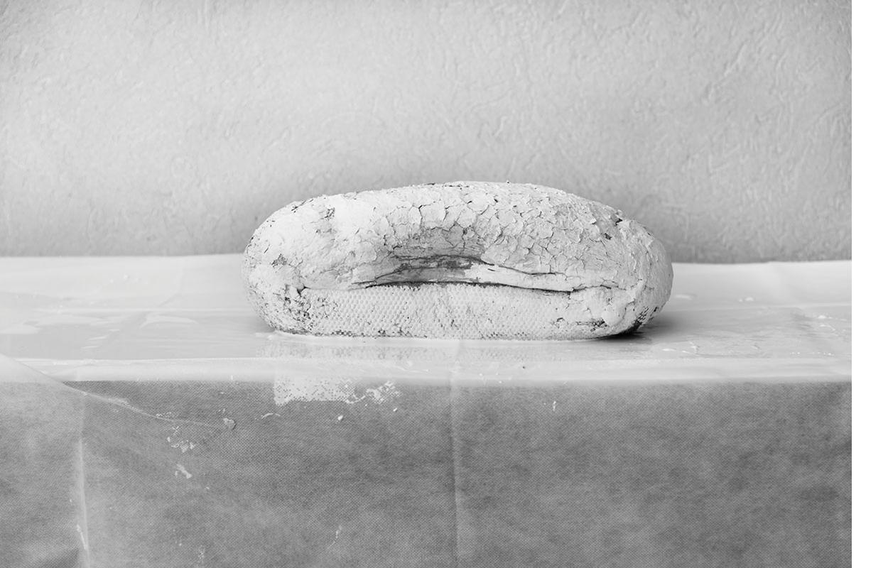 מצבה, headstone הזרקת דיו על ניר ארכיוני, 2017
